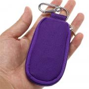 Hipiwe Essential Oil Key Chain Carrying Case - Holds 10 5/8 Dram (2 ml) Vials Bottles - Portable Essential Oils Keychain Pouch Kit Travel Bag for Oil Bottles (Purple)